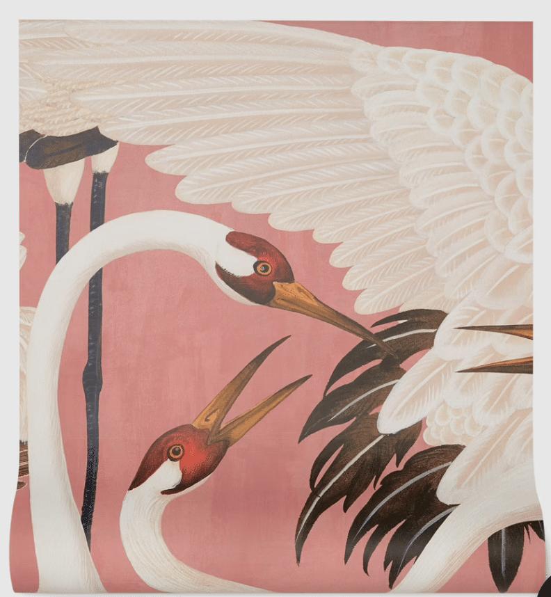 Pink GUCCI Crane Wallpaper