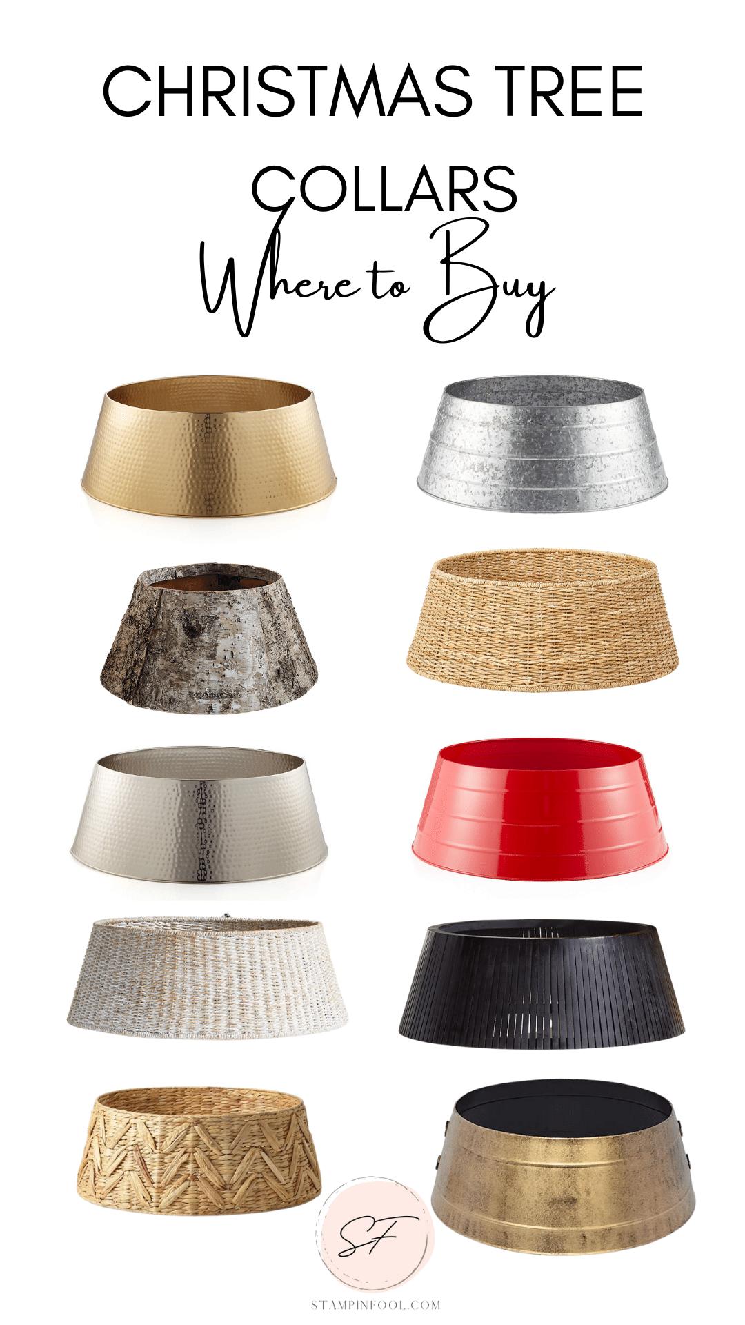 Where to buy christmas tree collars and tree skirts